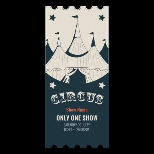 Circus tent ticket