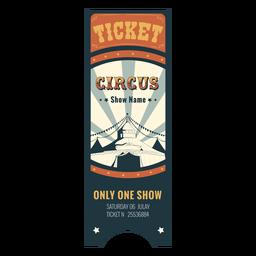 Muestra de boleto de carpa de circo
