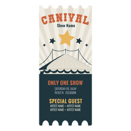 Circus ticket carnival