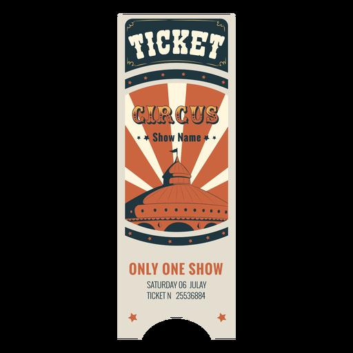 Amostra de bilhetes de circo