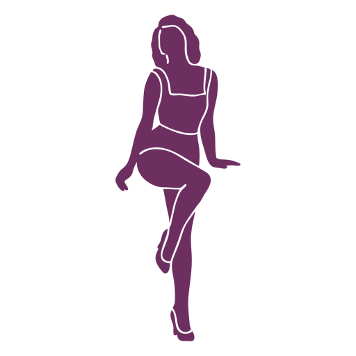 Classic pinup pose silhouette