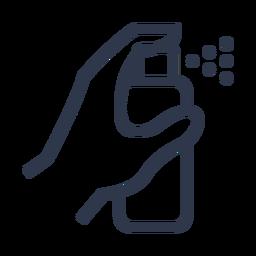 Icono de spray de limpieza