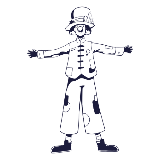 Clown circus character