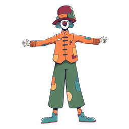 Clown circus character colorful