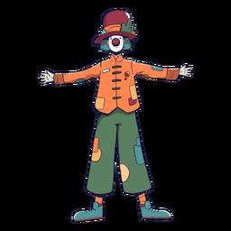 Personagem de circo palhaço colorido