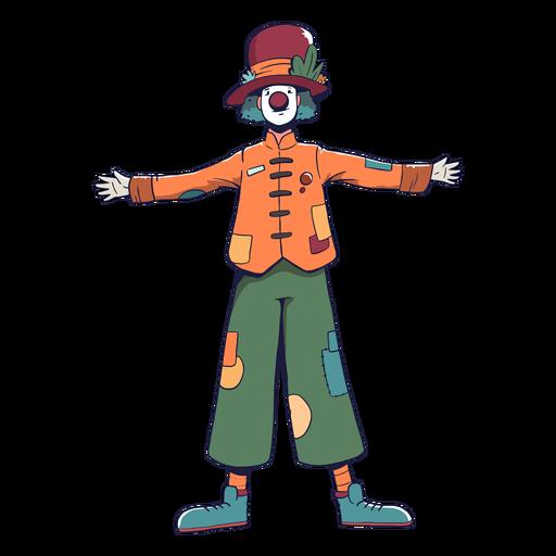 Payaso circo personaje colorido Transparent PNG