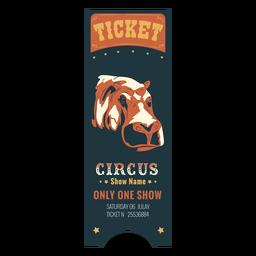 Boleto de circo coloreado