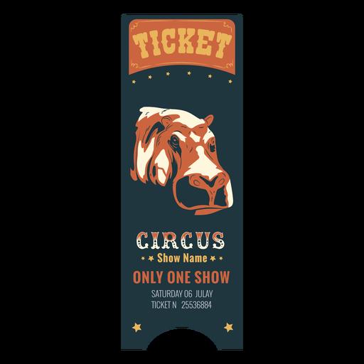 Boleto de circo coloreado Transparent PNG