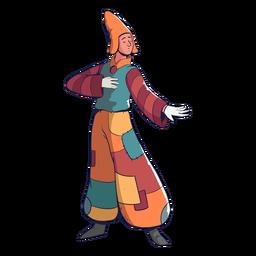 Colorful character circus drawn