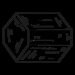 Forma de cristal fresco