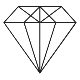 Cool diamond simple icon