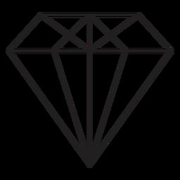 Icono simple diamante genial