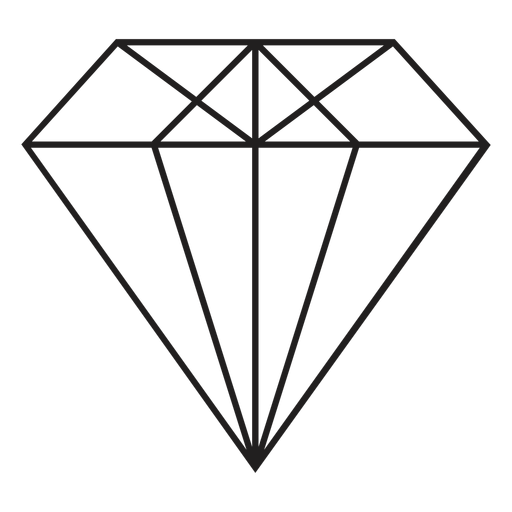 Cool diamond simple icon Transparent PNG