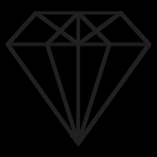 Cool diamond simple icon