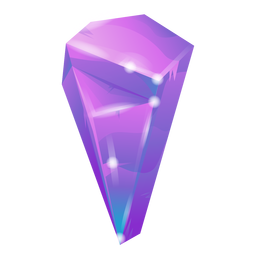 Cool purple crystal