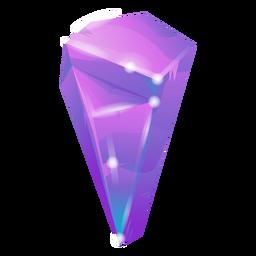 Cooler lila Kristall