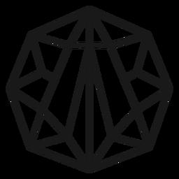 Icono de trazo de cristal de forma fresca