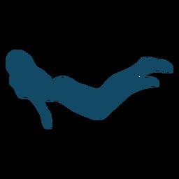 Silhueta de menina subaquática legal