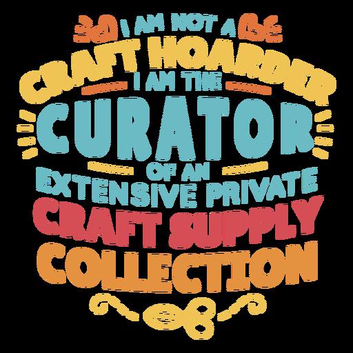 Craft hoarder lettering