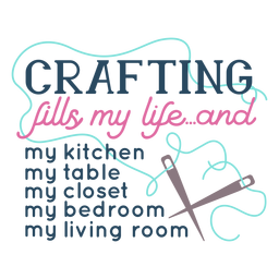 Crafting fills lettering