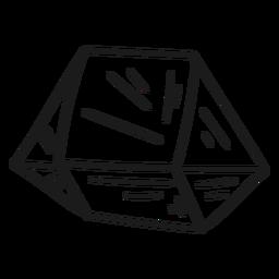 Kristall kühle einfache Form