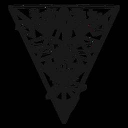 Ojo de triángulo invertido de cristal