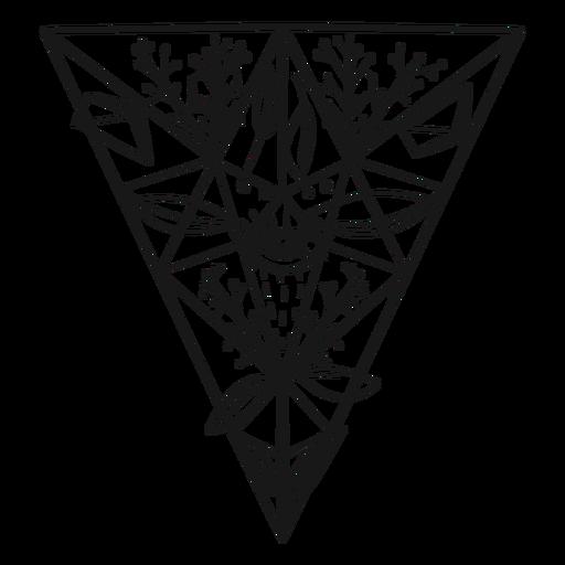 Ojo triangular invertido de cristal Transparent PNG