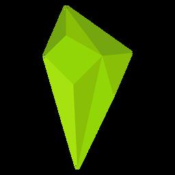 Kristall lindgrün