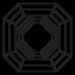 Octágono de cristal agradable