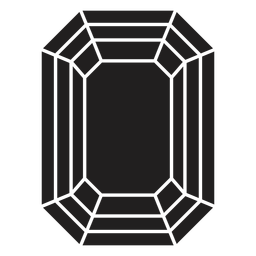 Kristall-Achteckform