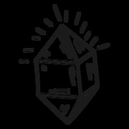 Kristall glänzt fantastische Ikone