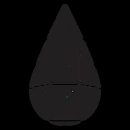 Forma de gota de lágrima de cristal