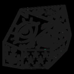 Kristall mit Gekritzelauge