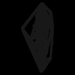 Cristal con ramita frondosa