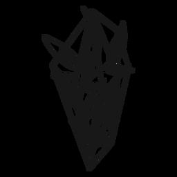 Cristal con hojas