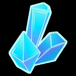 Cristales azul fresco