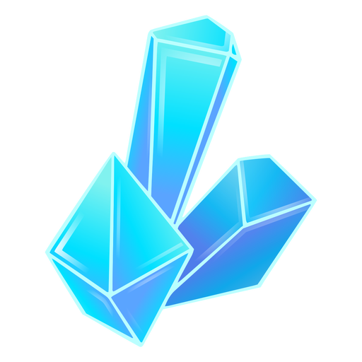 Crystals blue cool Transparent PNG