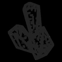 Cristales de diferentes formas