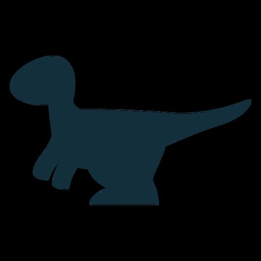 Linda silueta de dinosaurio