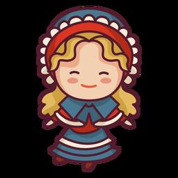 Cute english character cute fashion dress
