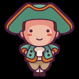 Cute guy english character cute character
