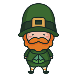 Cute irish character cute man