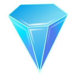 Cristal azul diamante
