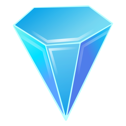 Diamond blue crystal Transparent PNG