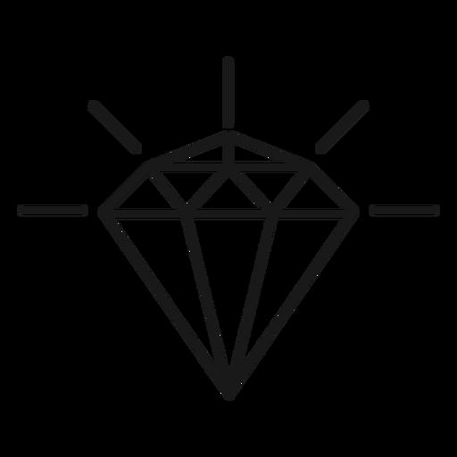 Icono de diamante trazo brillante