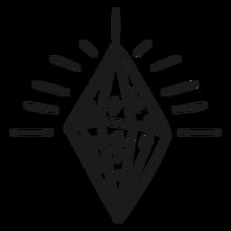 Diamante brillante cristal impresionante