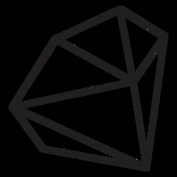 Diamond side icon simple