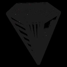 Diamond with dots crystal