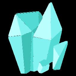 Cristales azules de diferentes formas