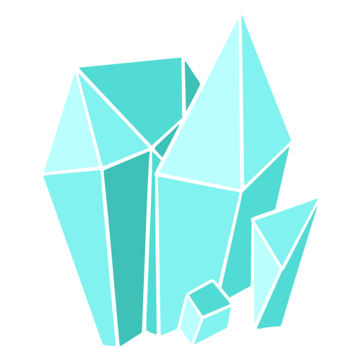 Different shapes blue crystals Transparent PNG